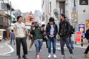 #harajukuhappytimes를 제작한 크리에이터들 구로카와 류스케, 야오 료타로, 시바사키 타쿠로, 도미타 타오키
