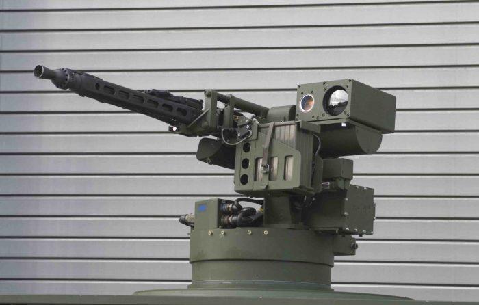 KMW社のRWS,FLW100。7.62ミリ機銃を搭載している。提供:KMW