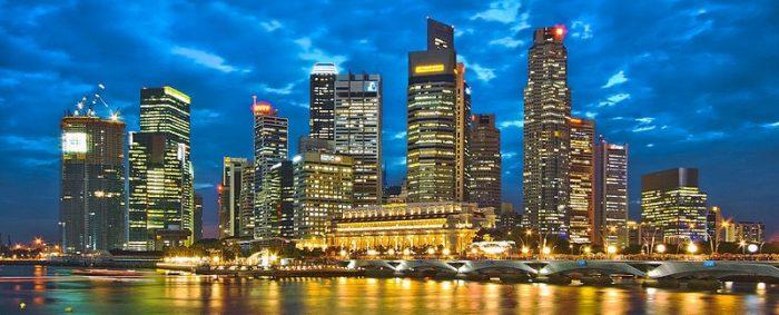 シンガポール夜景