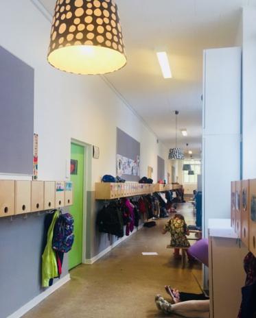 写真)小中学校の廊下